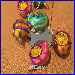 Christopher Radko Easter Ornaments LOT OF 6 EASTER BRIGHTS EGG ORNAMENTS