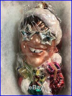 Christopher Radko Elton John Christmas Ornament Aids Foundation New