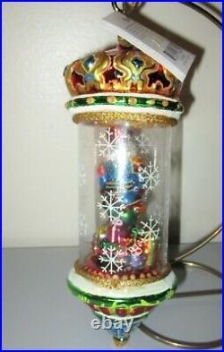 Christopher Radko Exquisite Crystal Cracker Globe Christmas Ornament 1010385 NWT