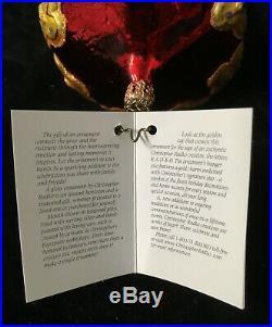 Christopher Radko Exquisite Globe Ornament Crystal Cracker #1010385 New 2003