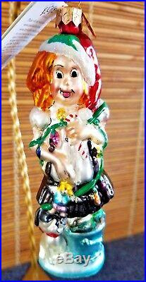 Christopher Radko FAO Schwarz ELOISE AT CHRISTMASTIME Ornament PLAZA. LIGHTS