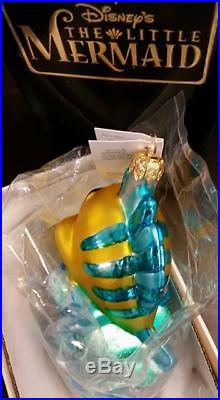 Christopher Radko FLOUNDER Ornament NEW DISNEY LITTLE MERMAID NIB RARE BGO