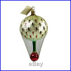 Christopher Radko FRENCH REGENCY Balloon Caged Wire Vintage Red 93-161-1 NWT