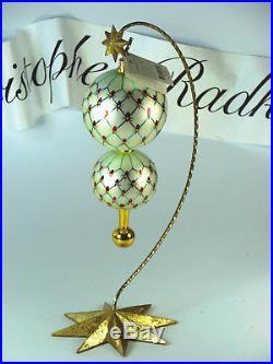 Christopher Radko FRENCH REGENCY Elegant Polish Glass Ornament BEAUTIFUL