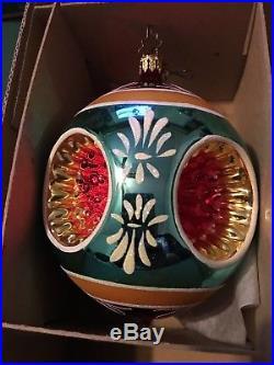 Christopher Radko Fantasia (3) Indent Glass Ornaments Blossom Brites Retired