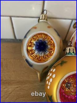 Christopher Radko Fantasia Box Set Of 5 Reflector ornaments 2001 Missing One