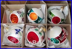 Christopher Radko Fantasia Christmas Ornaments FROSTY SPLENDOR Set of 6 NICE