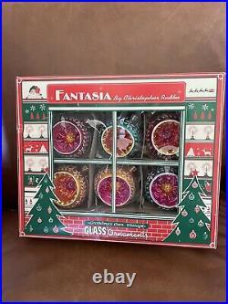 Christopher Radko Fantasia Crown Sparkle, set of 6 in box # 01-1098-0. Retired