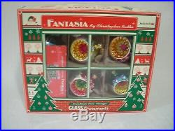 Christopher Radko Fantasia Grandma's Own Vintage Set Of 6 Glass Ornaments