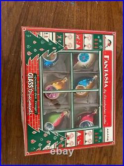 Christopher Radko Fantasia Ornaments Complete Box Minty