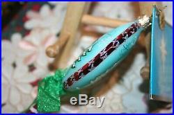 Christopher Radko Fantasia Rare Snow Seen Set of 2 Lollipop Ornaments from Pol