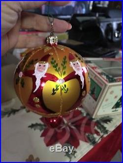 Christopher Radko Fantasia Santa Ornaments Set of 2