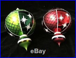 Christopher Radko Fantasia Set Of Two Ornaments, Star Cascade Recoloration