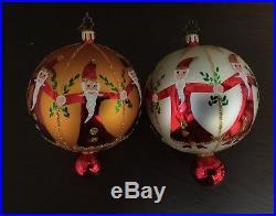 Christopher Radko Fantasia Set of 4 Glass Ball Christmas Ornaments in box 4