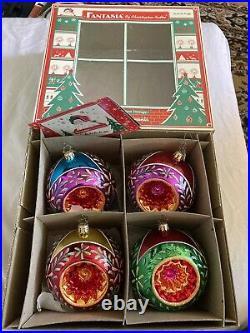 Christopher Radko Fantasia Stardust Memories Ornaments Large Set of 4