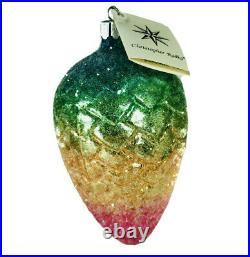 Christopher Radko Fantasy Pine Cone Vintage Christmas Ornament Rainbow 91-105-1