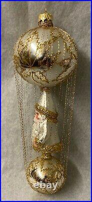 Christopher Radko First Decade Wire-Wrapped Santa-Scarlett Wedding Dress New