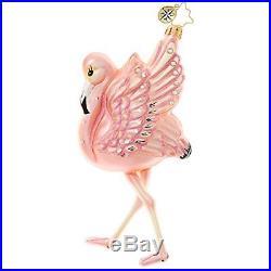 Christopher Radko Flamingo Flare Christmas Ornament