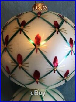 Christopher Radko French Regency Elegant Polish Finial Glass Ornament