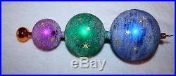 Christopher Radko GALAXY FROST Glass Christmas Ornament DROP FINIAL Ball GERMAN