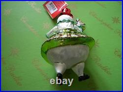Christopher Radko Girl Frosty Treat Glass Ornament