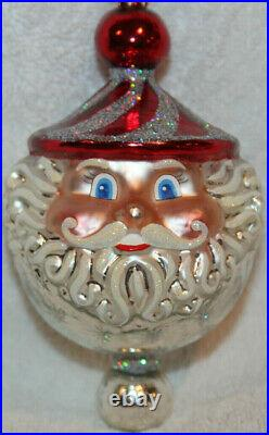 Christopher Radko Glass Christmas Ornament CHUBBY CHEERDROPS RARE Coloration