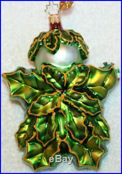 Christopher Radko Glass Christmas Ornament HOLLY JEAN