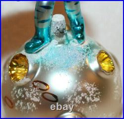 Christopher Radko Glass Christmas Ornament Italian ONE SMALL STEP Moon Landing