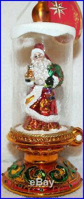 Christopher Radko Glass Christmas Ornament New CANDLE LIGHT KRINGLE Santa