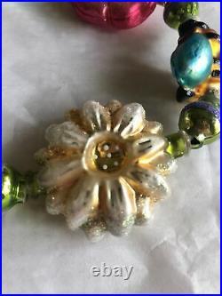 Christopher Radko Glass Honey Bee Blossom Garland Flower Bloom Ornament String
