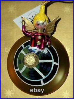 Christopher Radko Glass Ornament ANGEL IN ORBIT box/tags RARE HTF