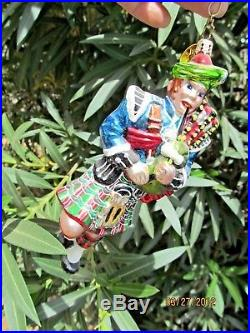 Christopher Radko Glass Ornament Highland Eleven 12 Days Of Christmas 11 Pipers