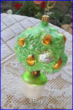 Christopher Radko Glass Ornament Partridge In A Pear Tree 12 Days Of Christmas