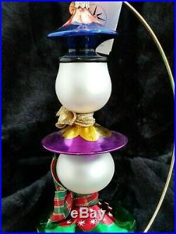 Christopher Radko Glass Ornament TRIPLE SCOOP 2001 Italian style