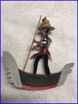 Christopher Radko Gondola Boat Ornament