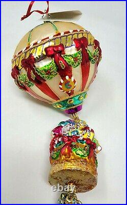 Christopher Radko Grand Gift Air Lift Hot Air Balloon Christmas Ornament