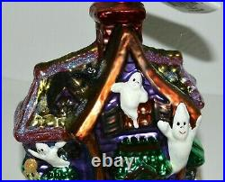 Christopher Radko HOWL MANOR Ornament Ghost Haunted House Black Cats Halloween