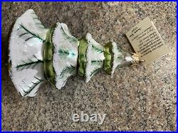 Christopher Radko HTF Winter Tree. Frosted Ornament Early 1990s Retired 5