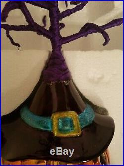 Christopher Radko Halloween Tree COMPLETE With All 6 Ornaments Pumpkin Hat Prop