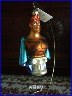 Christopher Radko Hercules Christmas Tree Ornament Disney Hero 1997 Box & Tag