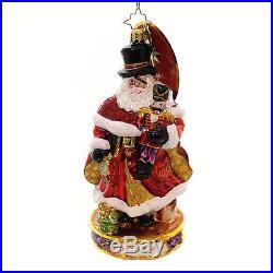 Christopher Radko Here Comes Drosselmeyer Santa Glass Christmas Ornament - New