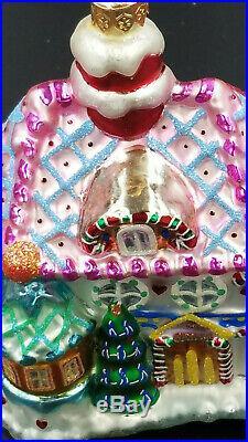 Christopher Radko House Ornaments 1999 CANDY LAND CORNER Set 3 VINTAGE LTD ED