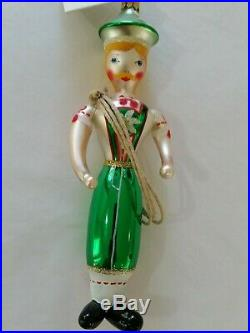Christopher Radko Italian Blown Glass Ornament ALPINE CLIMBER 1996