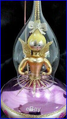 Christopher Radko Italian Blown Glass Ornament ANGEL ON BOARD 1995