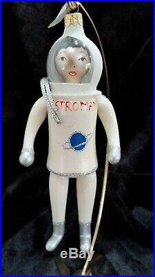 Christopher Radko Italian Blown Glass Ornament ASTROMAN 1996 Astronaut