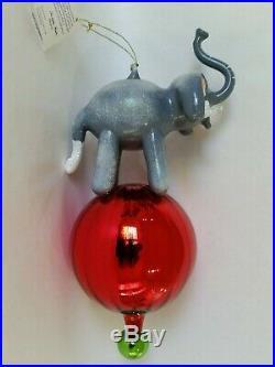 Christopher Radko Italian Blown Glass Ornament BALANCING BETTY 1997