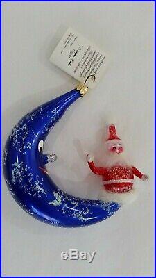 Christopher Radko Italian Blown Glass Ornament CRESENT KRINGLE 1996