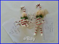 Christopher Radko Italian Blown Glass Ornament DANDY CANES 1997