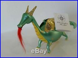 Christopher Radko Italian Blown Glass Ornament DRAGON FLY 2001 Rare