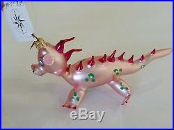 Christopher Radko Italian Blown Glass Ornament DRAGON PUFF 2002 Rare